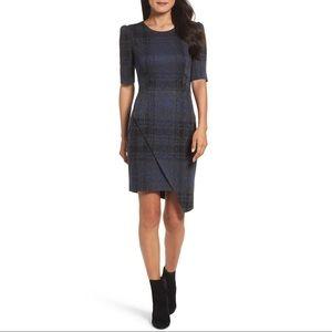 Betsey Johnson Asymmetrica Plaid Sheath Dress